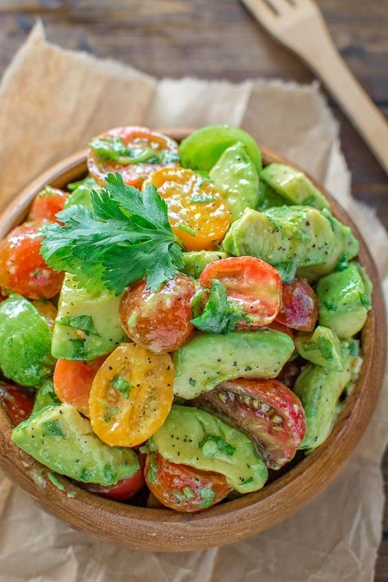 Healthy and so flavorful this Tomato Avocado Salad makes a great addition to your dinner or lunch. This is one of the most loved recipes in my family!
