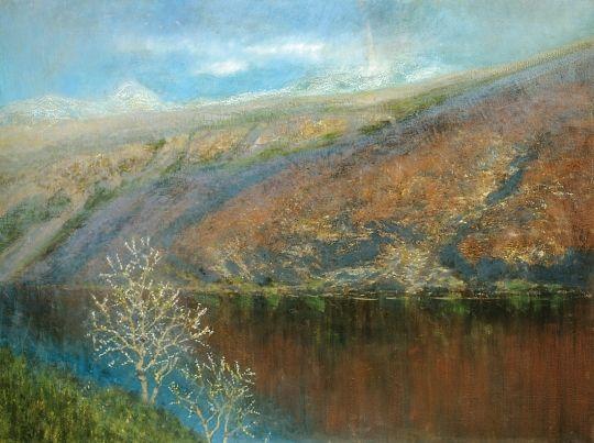 Mednyánszky László - Hegyes táj tóval (Hegyi tó), 1900-1904 között