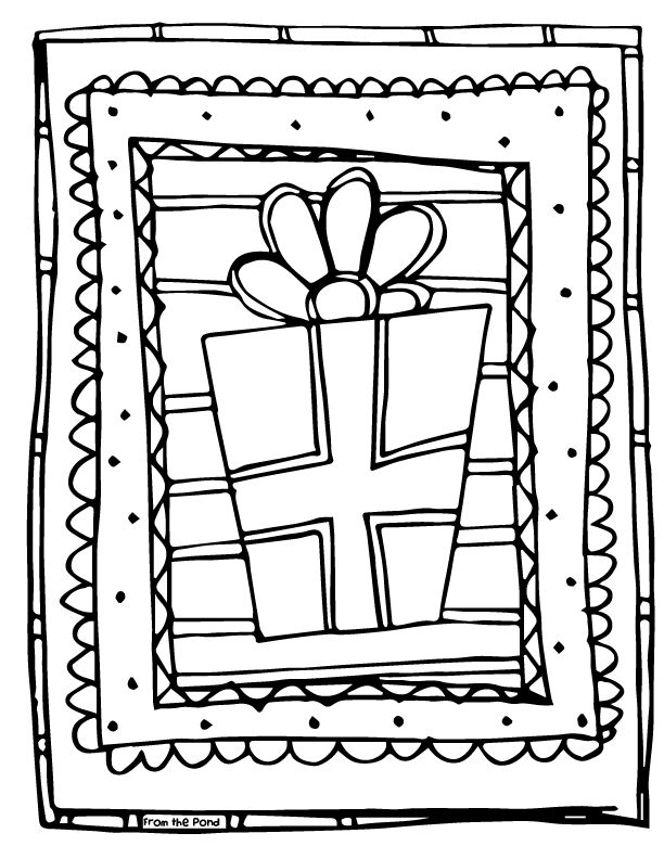 Scrappy Coloring Page - gift