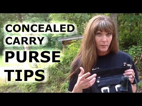Concealed carry purse tips - YouTube