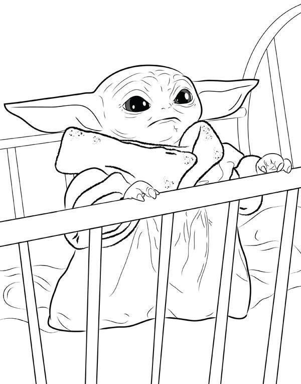 Baby Yoda Coloring Page You Re Welcome R Babyyoda Baby Yoda Grogu Baby Coloring Pages Star Wars Colors Bear Coloring Pages