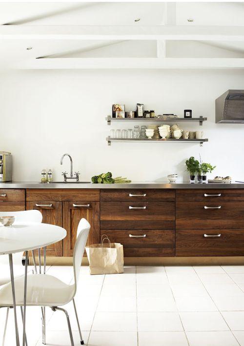 warm wood kitchen