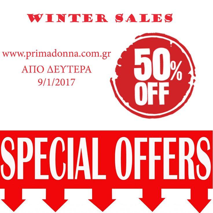 Το Primadonna ξεκινά τις χειμερινές του εκπτώσεις από Δευτέρα 9/1/2017.Red more > http://www.primadonna.com.gr
