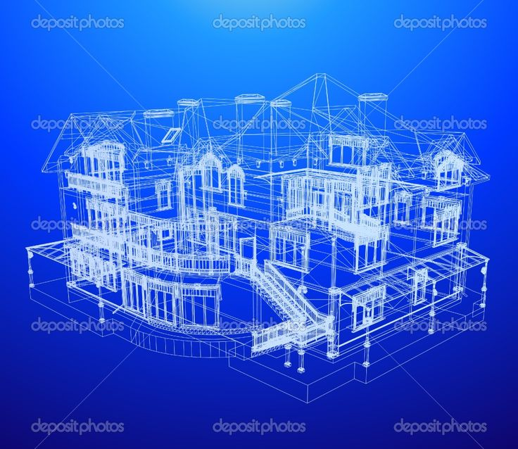 Depositphotos 4355569 architecture blueprint of a house for Printing architectural drawings