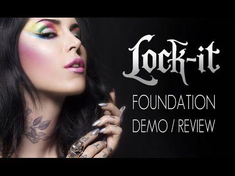 KAT VON D LOCK-IT FOUNDATION DEMO/REVIEW IN 4K! - YouTube