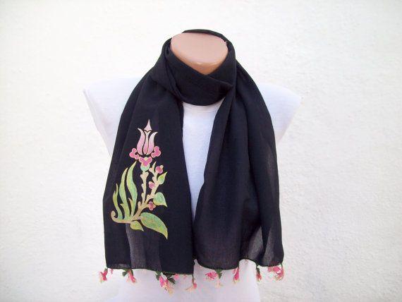 Handmade Traditional Turkish Fabric Scarf-Shawl by scarfnurlu