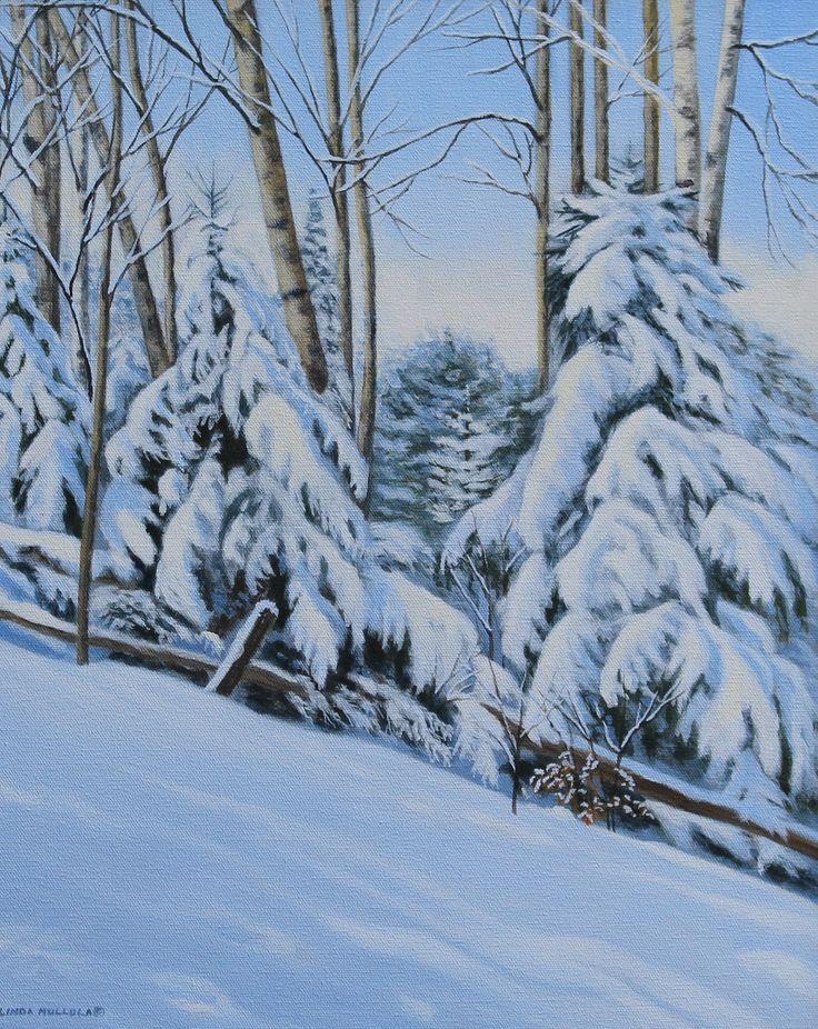 """After the snowfall"" Acrylic 20 x 16 www.lindamullola.com"