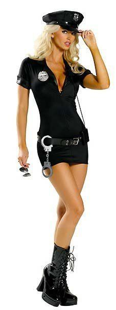 Sexy Women's Naughty Police Cop Officer Outfit Dress Ups Costume Size M L XL 2XL