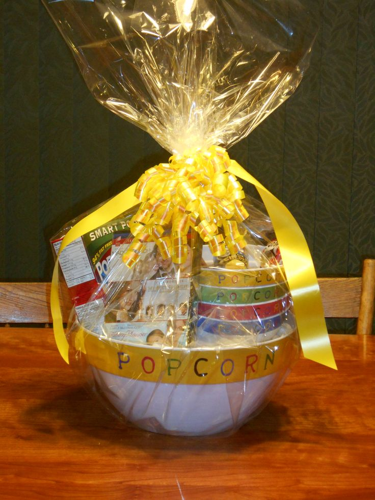 25+ unique Popcorn gift baskets ideas on Pinterest   Movie ...