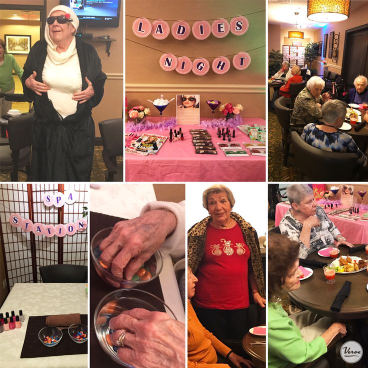 Ladies night was so much fun the gentlemen didn't want to miss out so they dressed up to crash the party ! #ladiesnight #richmondhillretirement