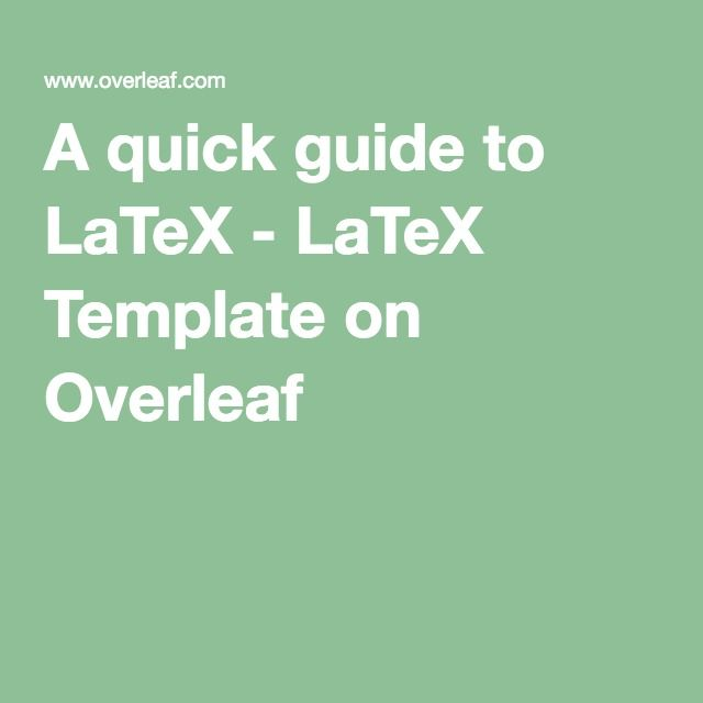 17 Best LaTeX / Beamer Images On Pinterest