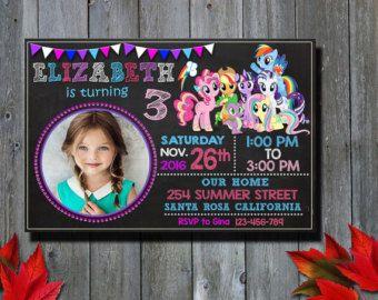 Mi invitación de Pony poco / mi pequeño Pony por MMEIdesign en Etsy