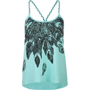 FULL TILT Feather Womens Lace Back Tank