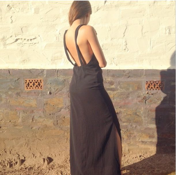 Montana Papas from Montana Loves in the Keepsake 'Take It All Maxi Dress' (Black) from Of The Tribe. COMING SOON.