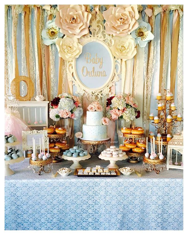 Vintage Victorian  Baby Shower Party Ideas | Photo 1 of 7