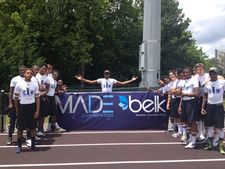 Cam Newton at a high school football camp in Atlanta, GA! #belk #MADE