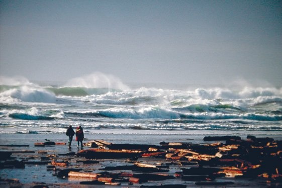 Storm watching in Tofino during fall and winter.