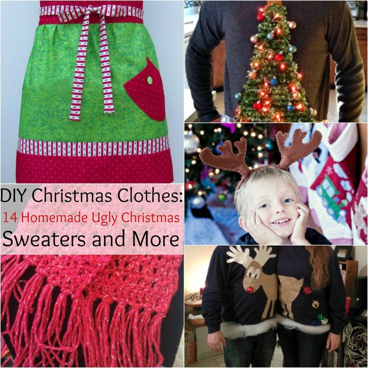DIY Christmas Clothes: 14 Homemade Christmas Sweaters and More from www.allfreeholidaycrafts.com