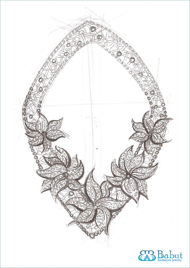 sketch necklace | sketches design jewelry | Pinterest