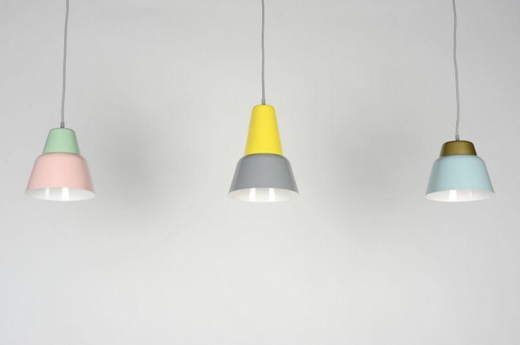 Hanglamp 30523: Modern, Retro, Metaal, Grijs