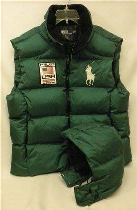 Xl Men S Polo Ralph Lauren Big Pony Usa Alpine Ski Hooded Down Emerald Green Puffer