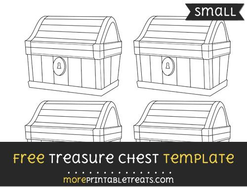 Free Treasure Chest Template Small Pirate Party Printables