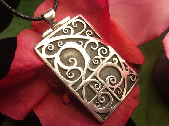 Fibonacci Spiral Golden Spiral Hinged Pendant Necklace