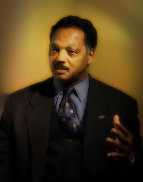 blackkudos:     Jesse Louis Jackson, Sr. (born Jesse Louis Burns; October 8, 1941) is an American civil rights activist, Baptist minister, and politician. He was a candidate for the Democratic presidential nomination in 1984 and 1988 and served as a shadow U.S. Senator for the District of Columbia from 1991 to 1997. He is the founder of the organizations that merged to form Rainbow/PUSH. Former U.S. Representative Jesse Jackson, Jr. is his eldest son. Jackson was also the host of Both Si...