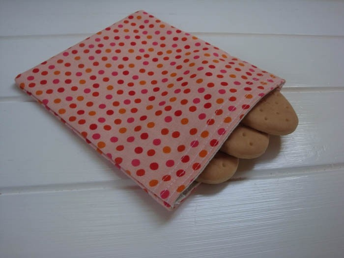 Snack or Goodies Bag - Red & Pink Spot Print