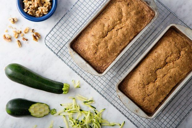 This rather unusual loaf has a very pleasant flavor, a little on the sweet side, and a distinctive texture. The built-in moisture provided by the zucchini makes it a very good keeper. It can be prepared with 1 cup of whole wheat flour instead of all white flour.