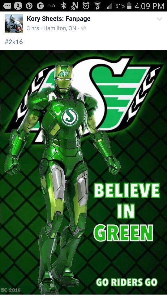 Saskatchewan Roughrider Iron Man!