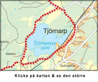 Karta, Tjörnarp, vandringsled runt Tjörnarpssjön
