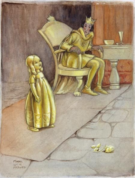 THE GOLDEN TOUCH by MABEL LUCIE ATTWELL - original artwork for sale | Chris Beetles