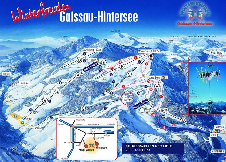 gaissau - hintersee piste map