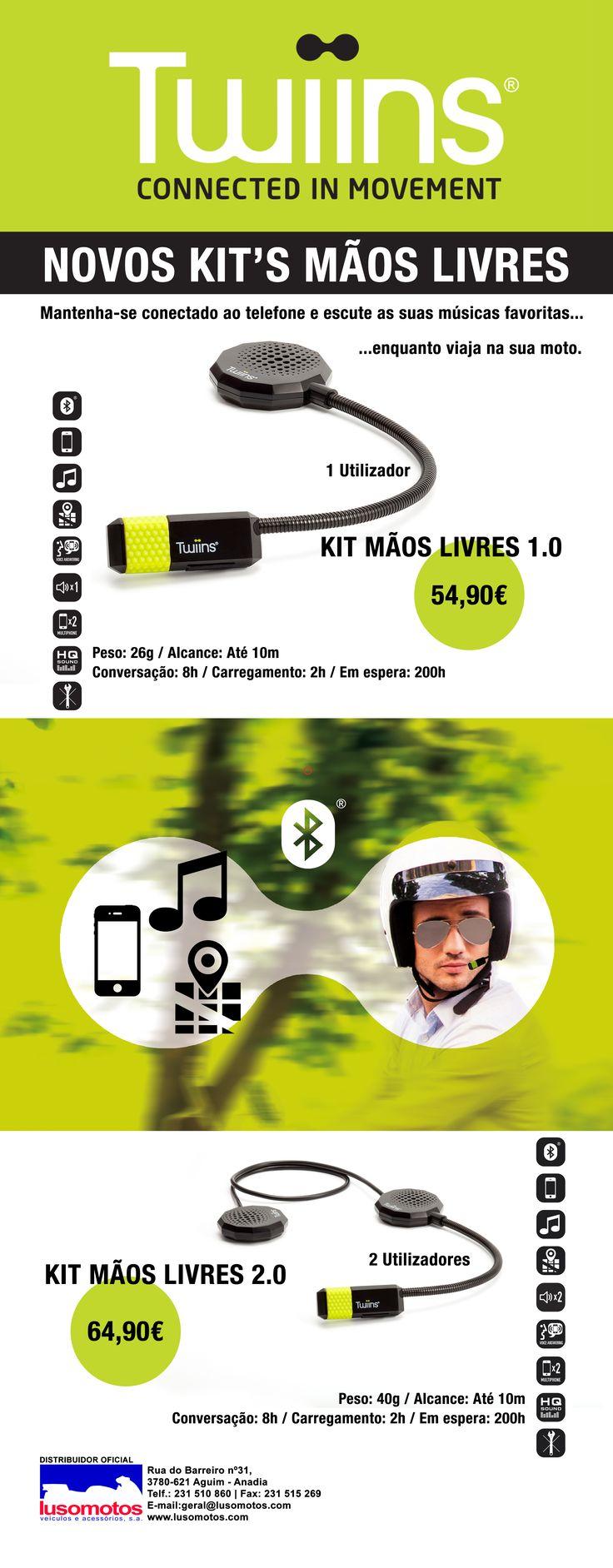 TWIINS | Novos Kit's Mãos Livres || Os novos Kit's Mãos Livres já estão disponíveis na Lusomotos! Já tem o seu? Prepare as suas férias com tudo o que tem direito. #lusomotos #twiins #kitmãoslivres #mãoslivres #estilodevida #capacete #moto #comunicação #gps #música #andardemoto