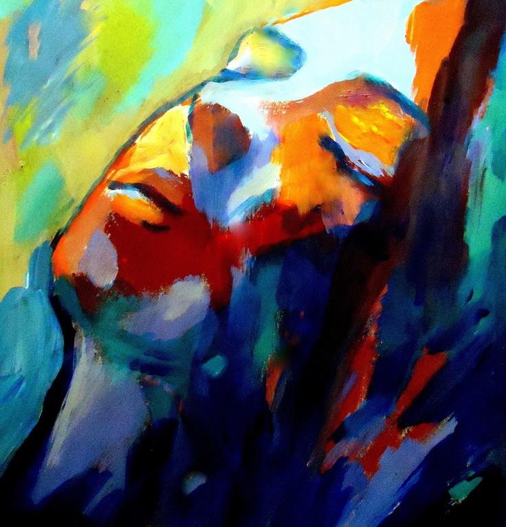 "Saatchi Online Artist: Helena Wierzbicki; Acrylic, 2012, Painting """"Silent song"""""