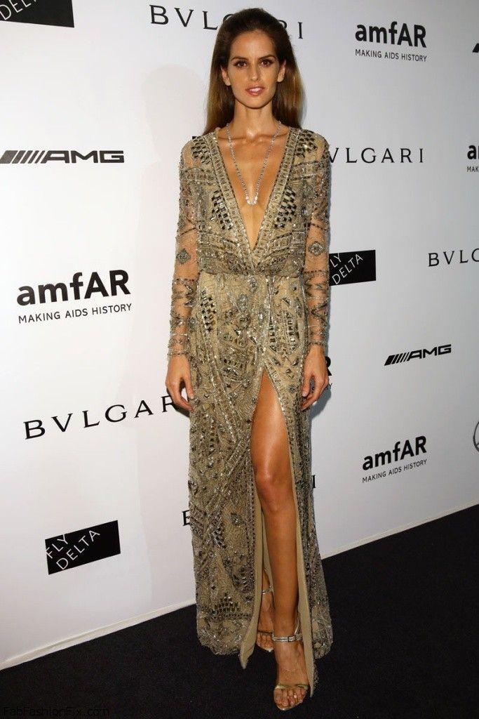 Izabel Goulart in Emilio Pucci dress at the amfAR Gala at Milan Fashion Week, on 20th September 2014.