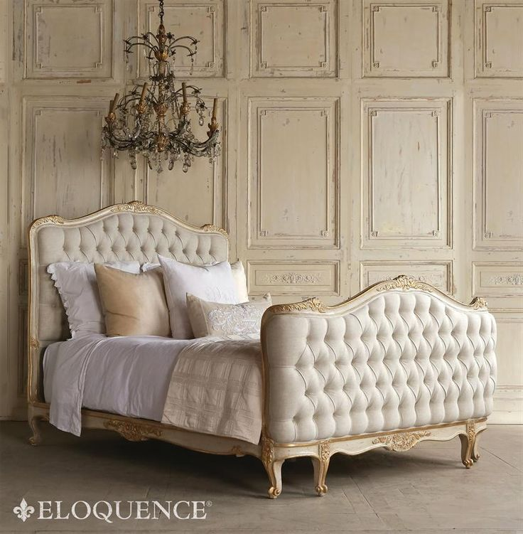 eloquence sophia two tone gold tufted bed