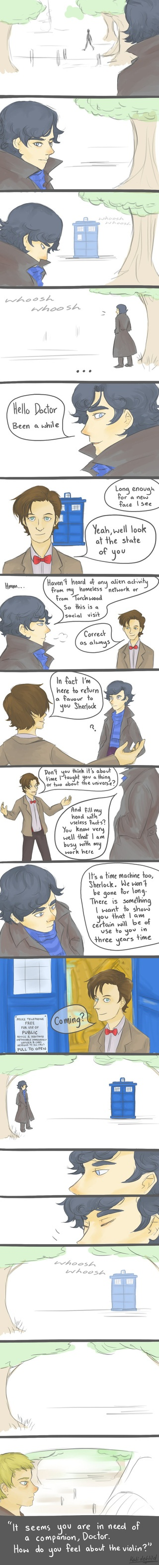These fan-made Wholock things are awesome! Makes me wish that this would actually happen.