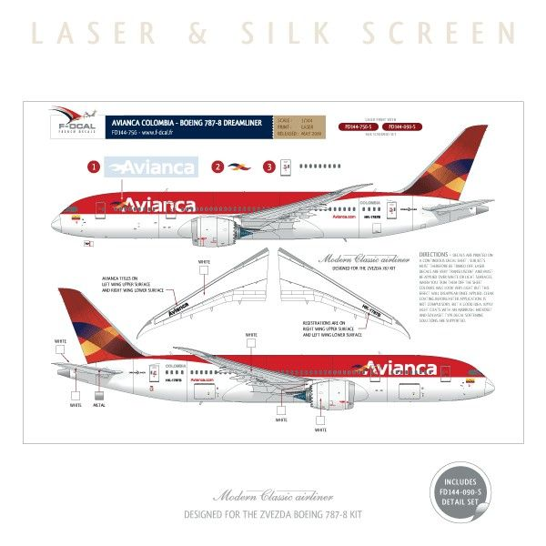 13 best ideas about airliner model decals on pinterest for Interior 787 avianca