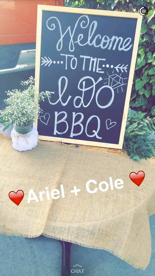 Chalk Board for Party Entrance - I do BBQ