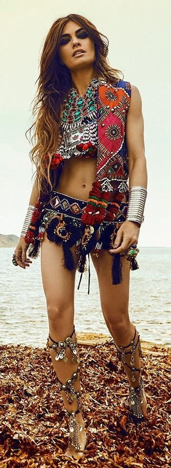 Reminds me of Barbarella with a Bohemian twist - too much of a good thing can be overkill - thumbs down.