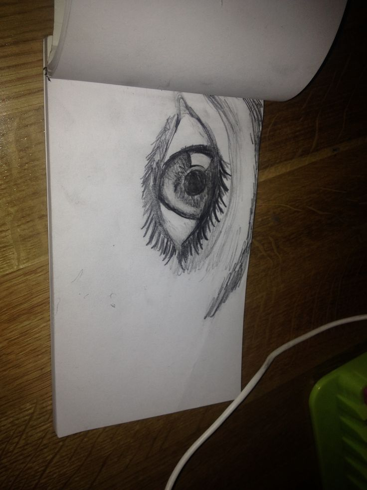 Eye, pencil drawing