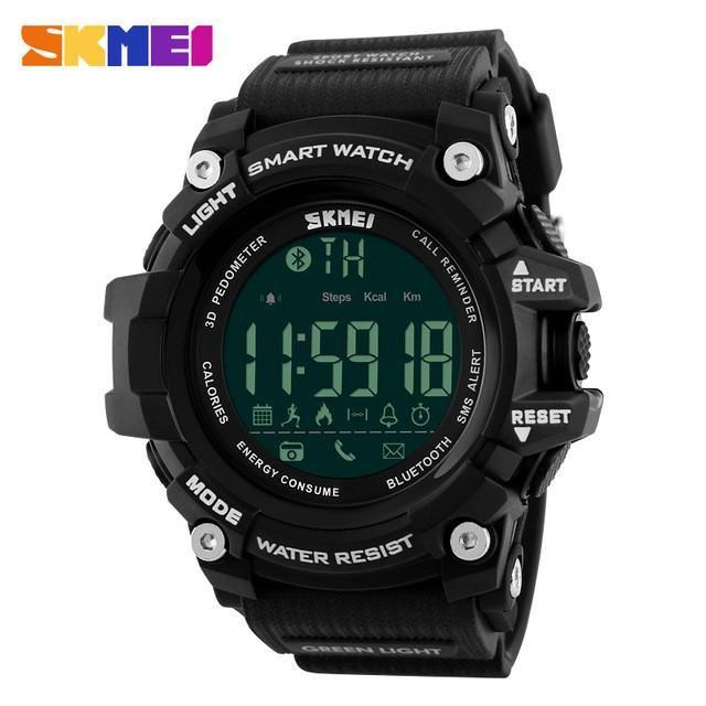 Bluetooth Smart  Pedômetro Calorias Digital LED Exteriores Relógios Militar Masculino