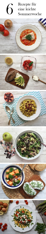 Sechs leckere und leichte Sommerrezepte, die nicht schwer im Magen liegen und für die du auch nicht lange in der Küche stehen musst.