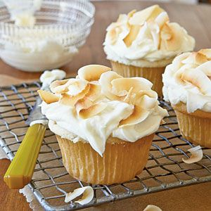 Coconut Cupcakes with Coconut-Cream Cheese Frosting from MyRecipes.com
