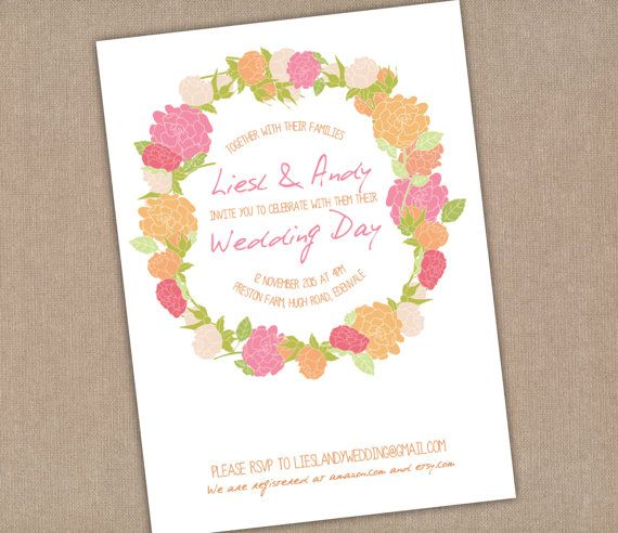 Bright Summer Colors Wedding Invitation  by SixDaysCreations