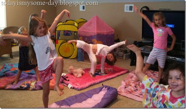 """Daytime """"Sleepover"""" party!  For little girls that might be too young for the actual slumber party."""