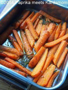 Gemüse Beilage zum Grillen easy aus dem Ofen - Karotten á la Jamie Oliver *** Easy Oven Carrot Recipe á la Jamie Oliver as sidedish for BBQ