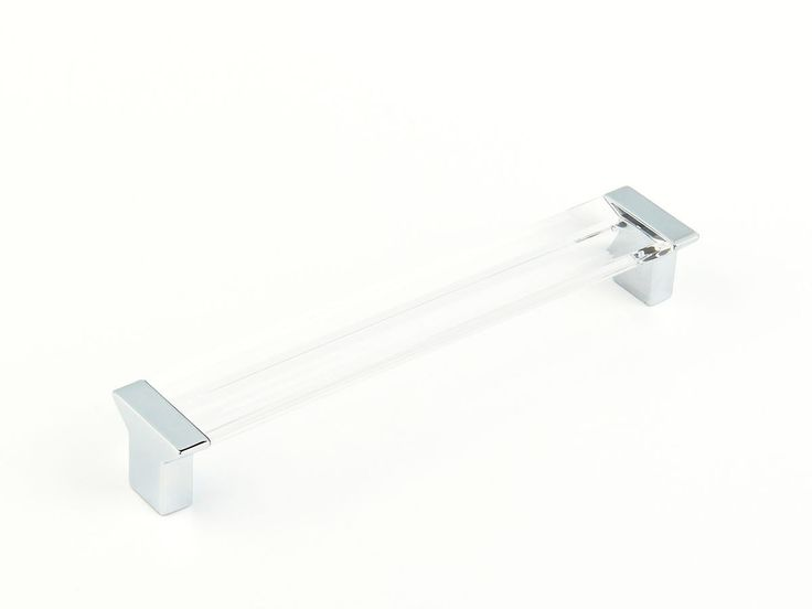 Polished Chrome/Clear Cabinet Pull Contemporary | Schaub and Company